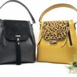 modele geanta Tanna negru si galben
