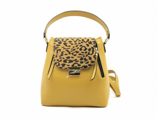 geanta galbena cu culoare tigru