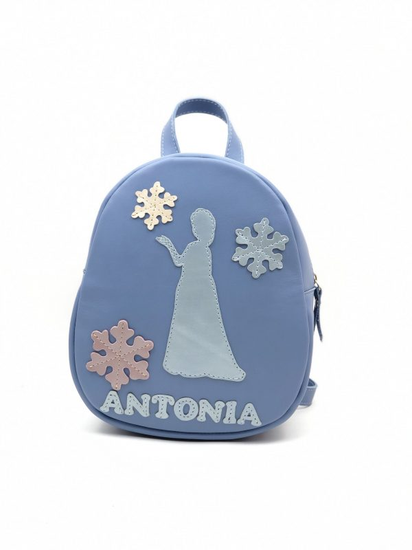 geanta albastra cu nume