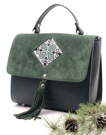 model geanta cu imprimeu romb