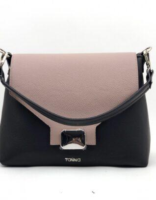 geanta cu roz si negru
