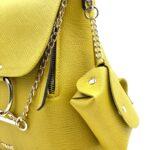 geanta galbena cu accesoriu