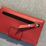 portofel rosu cu fermoar