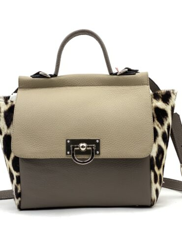 geanta gri cu model animal print