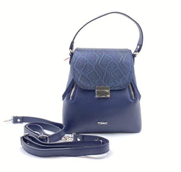geanta rucsac 2 in 1 albastra