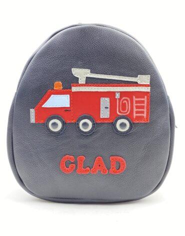 Rucsac pentru copii Kinder Masina de pompieri, din piele naturala