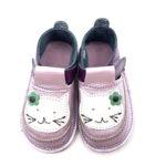 Pantofi barefoot din piele naturala Kinder lila Pisicuta