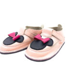 Pantofi barefoot din piele naturala Kinder rose Minnie