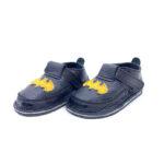 Pantofi barefoot din piele naturala Kinder negru Super erou