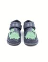 Ghete din piele naturala barefoot Kinder gri inchis Dino