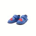 Ghete din piele naturala barefoot Kinder petrol Masinuta rosie