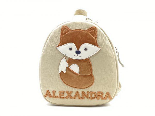 Rucsac Kinder din piele naturala - Vulpita foxy