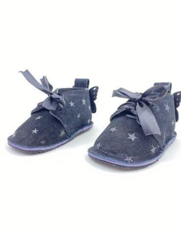 Pantofi bebe din piele naturala Kinder - negru velur