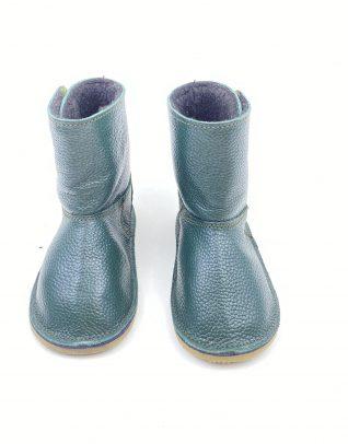 Cizme din piele naturala Barefoot Kinder - verde
