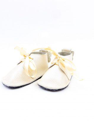 Pantofi bebe din piele naturala Kinder - crem