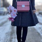 Poseta Jade roz - din piele naturala
