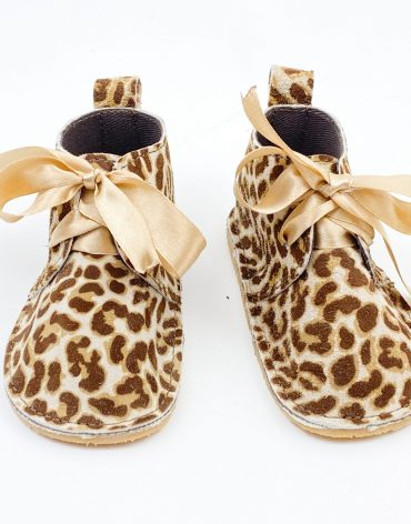 Pantofi bebe din piele naturala Kinder - animal print