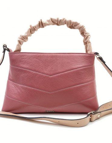 Poseta din piele naturala Imma - roz plamaniu/roz pal