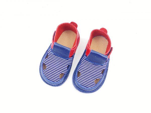 Sandale barefoot din piele naturala Kinder Summer vibes