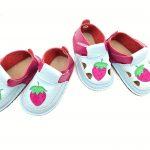 Sandale barefoot din piele naturala Kinder Capsunica