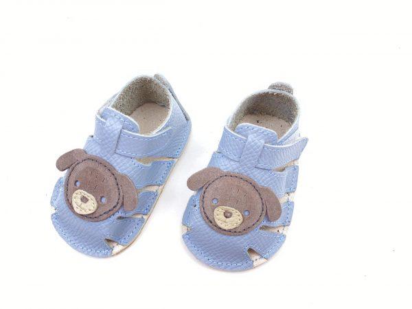 Sandale din piele naturala PUF bleo Catelus